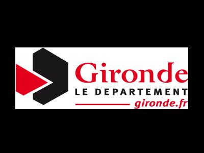 logo département Gironde, partenaire / sponsor du festival - musiques électroniques video-mapping, performance A/V - Bordeaux