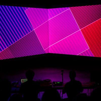 Perspection de Matthew Biederman et Pierce Warnecke (CA / USA) à Bordeaux pour les festivals Echo A Venir et acce)s(