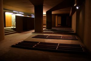 Ancienne Caisse d'Épargne de Mériadeck, Bordeaux : réouverture exceptionnelle pour des performances A/V et video-mapping - festivals Echo A Venir et accès)s(