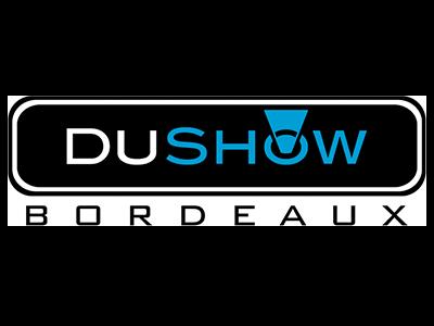logo Dushow, partenaire / sponsor du festival - musiques électroniques video-mapping, performance A/V - Bordeaux