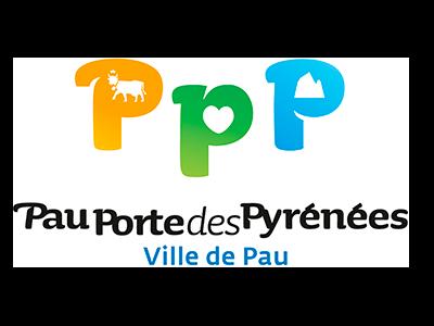 logo ville de Pau : partenaire / sponsor du festival - musiques électroniques video-mapping, performance A/V - Bordeaux