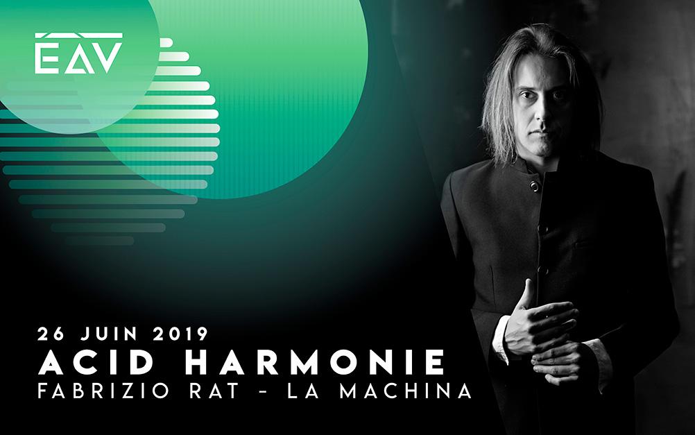 Fabrizio Rat La Machina présent au festival Echo A Venir Bordeaux